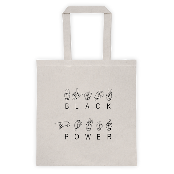 ASL Black Power Reusable Tote