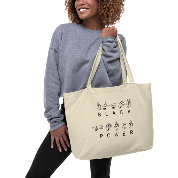 ASL Black Power Extra Large Eco Tote