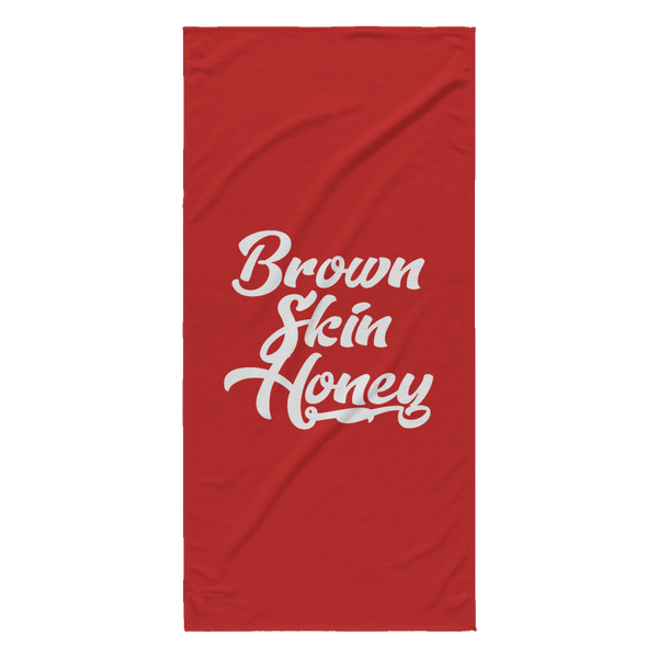 Brown Skin Honey Beach Towel