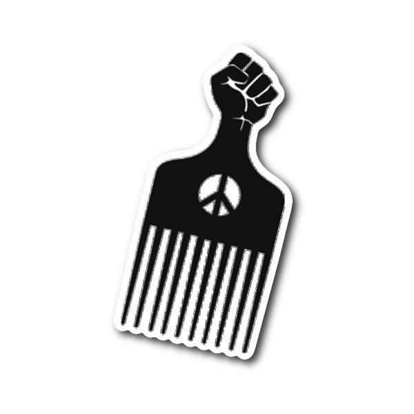 Afro Pick Sticker