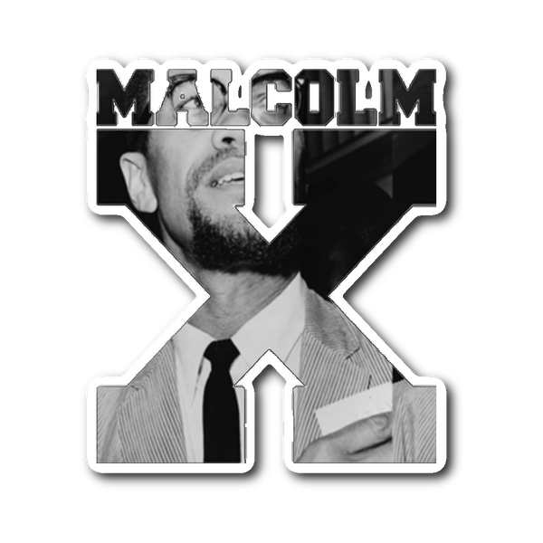 Malcolm X Cut Out Sticker