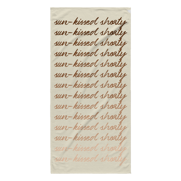 Sun-Kissed Shorty Beach Towel
