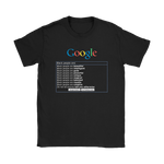 "Google: ""Black People Are"" T-Shirt"