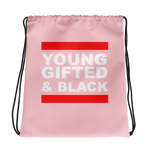 Young, Gifted & Black Drawstring Backpack