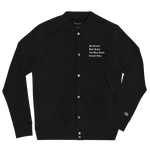 Black People Created Style Embroidered Champion Bomber Jacket