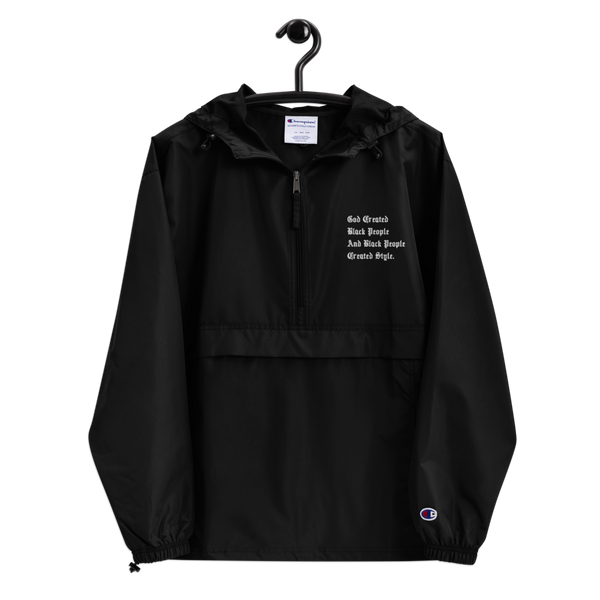 Black People Created Style Embroidered Champion Pullover Jacket