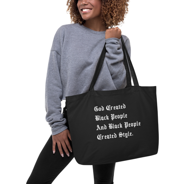 Black People Created Style Extra Large Eco Tote
