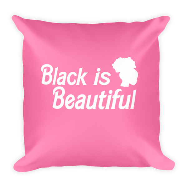 Black Barbie Throw Pillow