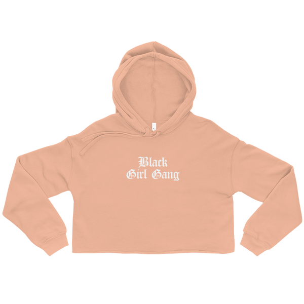Black Girl Gang Cropped Hoodie