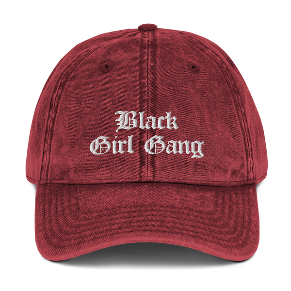 Black Girl Gang Washed Vintage Dad Hat