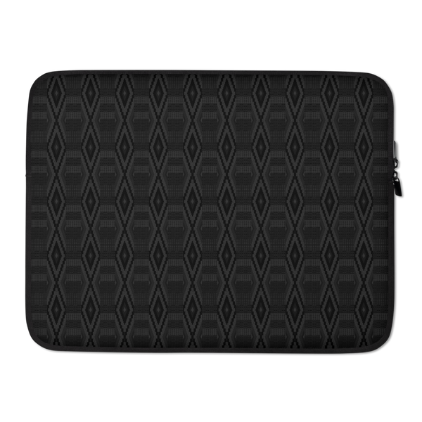 Blacked Out Kente Laptop Sleeve