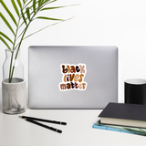 Black Lives Matter Shades Sticker