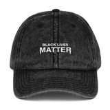 Black Lives Matter Washed Vintage Dad Hat
