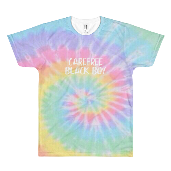 Carefree Black Boy Tie Dye T-Shirt