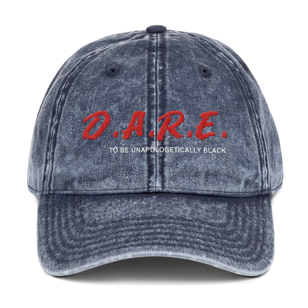 Dare To Be Unapologetically Black Washed Vintage Dad Hat