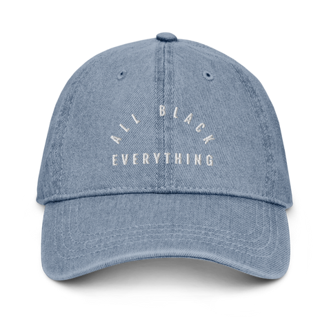 All Black Everything Denim Dad Hat