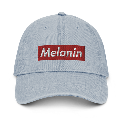 Melanin Supreme Denim Dad Hat