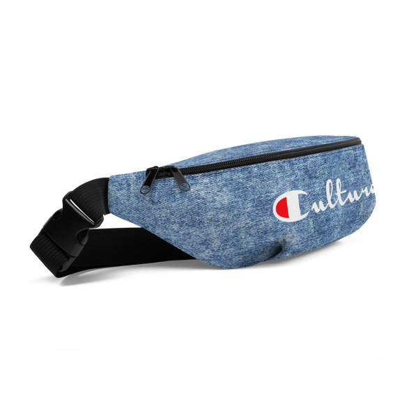 Culture Denim Print Fanny Pack