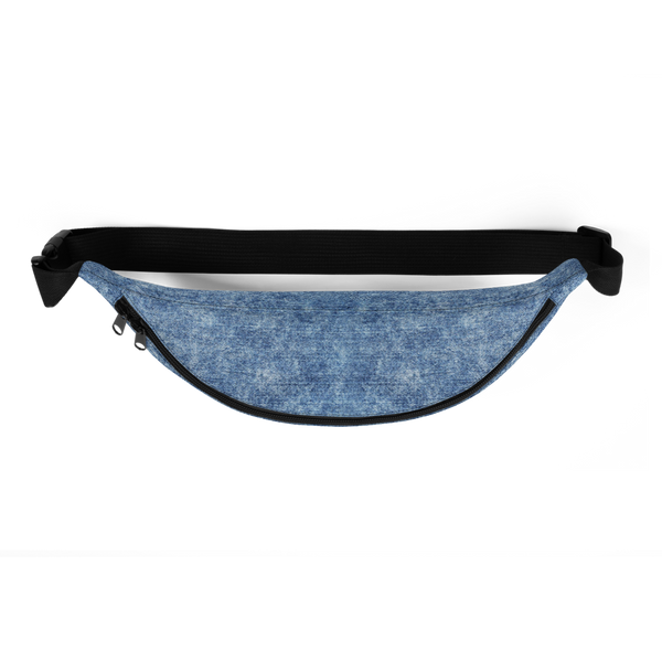 Pro-Black Denim Print Fanny Pack