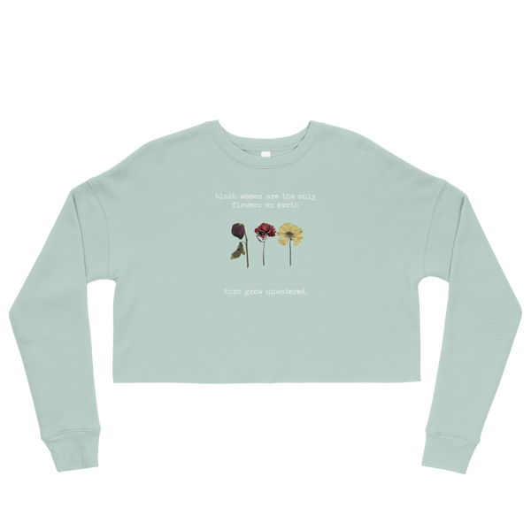 Flowers Unwatered Cropped Sweatshirt