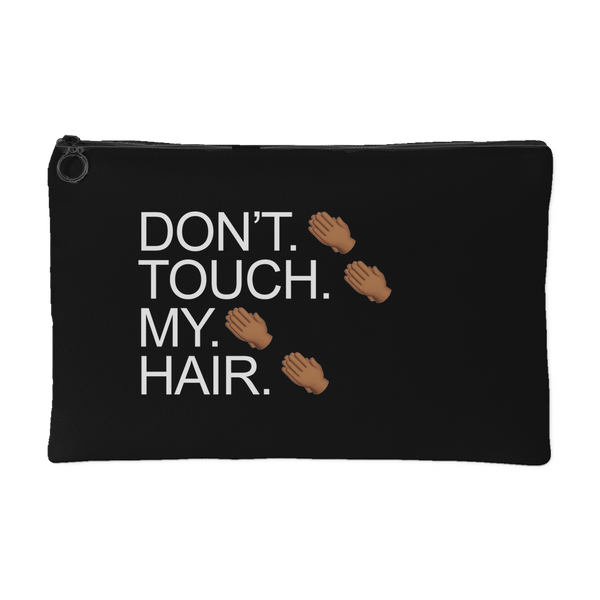 Don't. Touch. Canvas Pouch in Black
