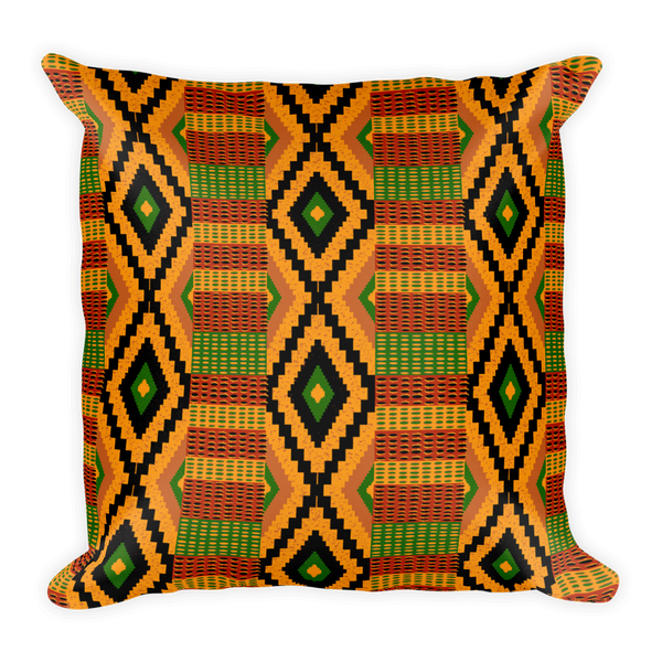 Kente Print Throw Pillow