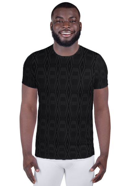 Blacked Out Kente Men's Athletic T-Shirt