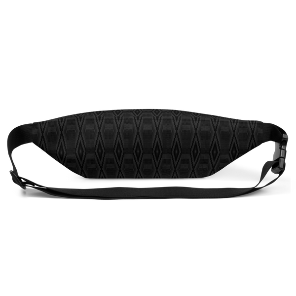 Blacked Out Kente Fanny Pack