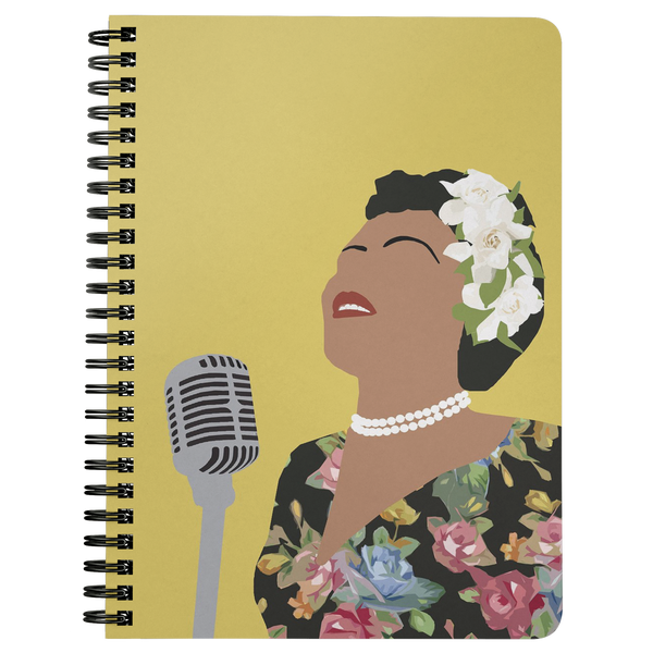 Billie Holiday Spiral Notebook
