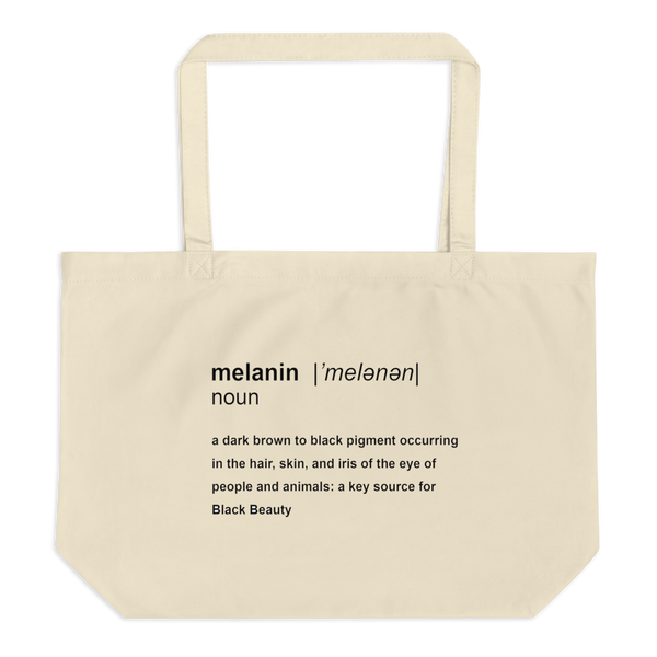 Melanin Definition Extra Large Eco Tote