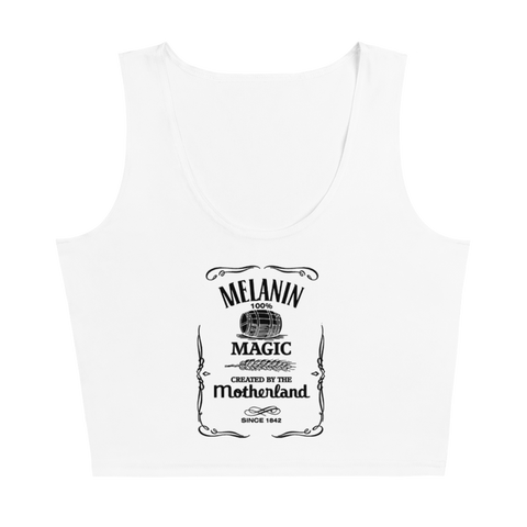 Melanin Whiskey Cropped Tank Top