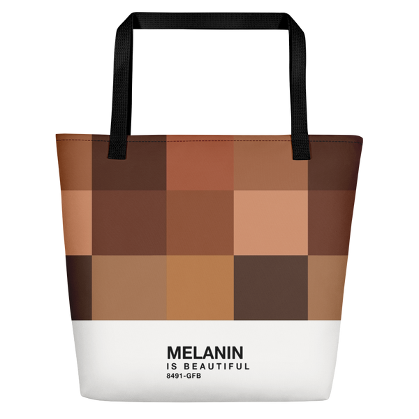 Melanin Color Swatch Beach Bag