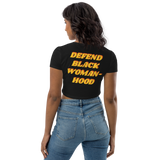 Defend Black Womanhood Organic Crop Top
