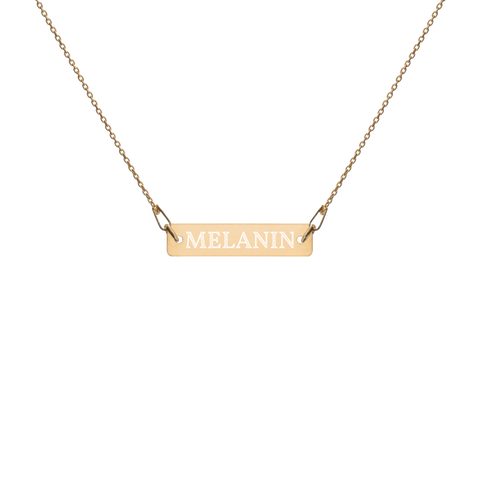 Melanin Engraved Bar Necklace