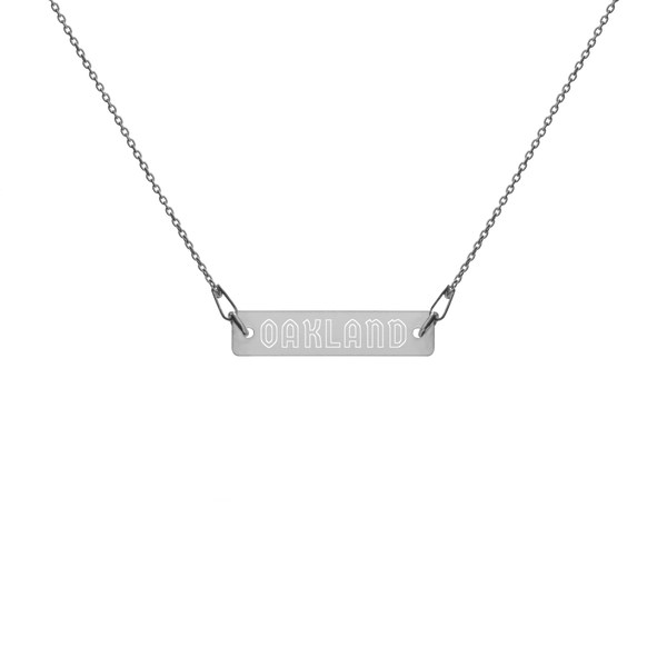 Oakland Engraved Bar Necklace