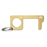 Melanin Queen Engraved Brass Touch Tool
