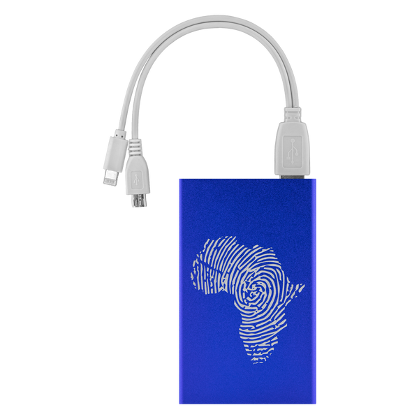Africa Fingerprint Portable Charger