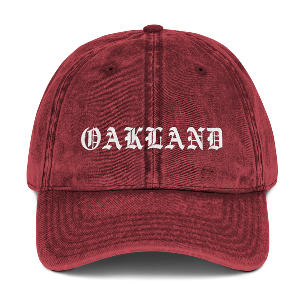 Oakland Washed Vintage Dad Hat