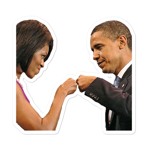 Michelle & Barack Fist Bump Sticker