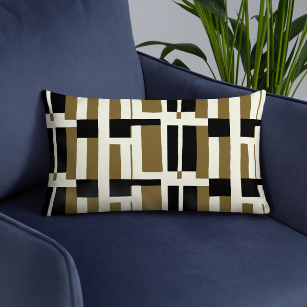 Afrocentric 1950's Textile Throw Pillow