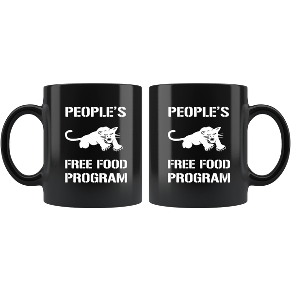 Black Panther Free Food Program Black Mug