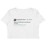 Marcus Garvey Tweet Organic Crop Top