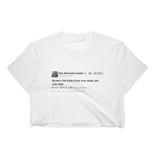 Marcus Garvey Tweet Crop Top