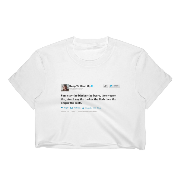 Tupac Tweet Crop Top