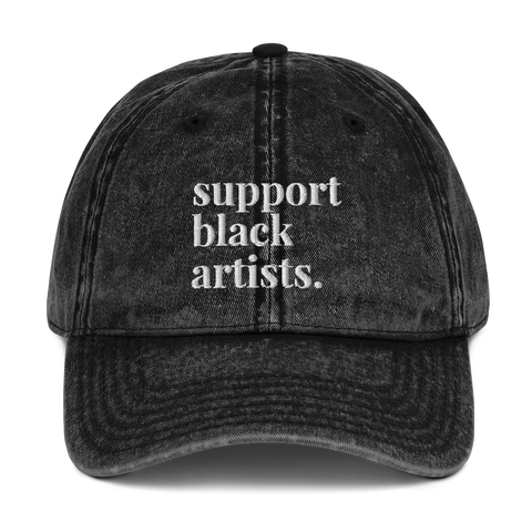 Support Black Artists Washed Vintage Dad Hat