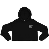 Support Black Artists Embroidered Cropped Hoodie
