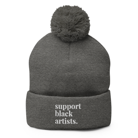 Support Black Artists Pom Pom Beanie