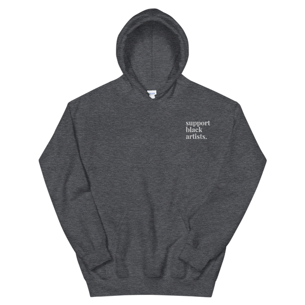Support Black Artists Embroidered Hoodie