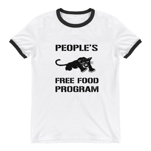 Black Panther Free Food Program Ringer T-Shirt