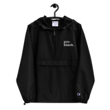 Pro-Black Embroidered Champion Pullover Jacket